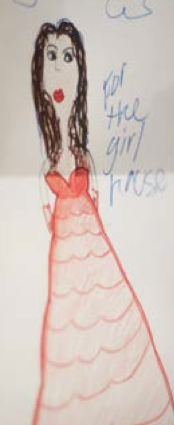 Artwork made for the 'Laurel Girls' by one of the children.